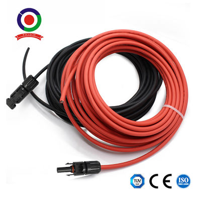 2 X 5m Dc Solar Panel 6mm Cable Wire Extensions With Pre Crimped Connector